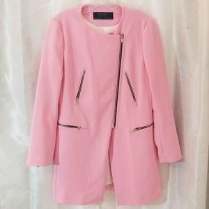 ZARA Basics Pink Jacket/Coat Size Medium